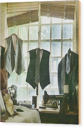 The Tailor Shop Wood Print by Steve Taylor
