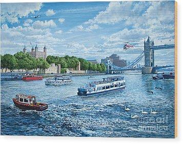 The Tower Of London Wood Print by Steve Crisp