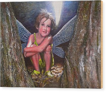 The Tree Fairy Wood Print by Michael Durst