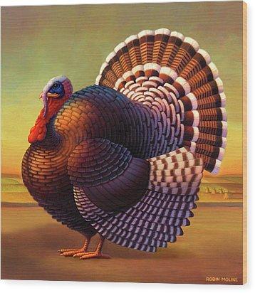 The Turkey Wood Print by Robin Moline