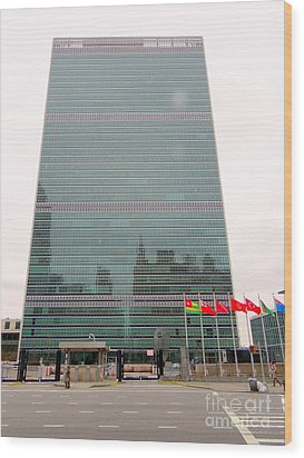 The United Nations Wood Print by Ed Weidman