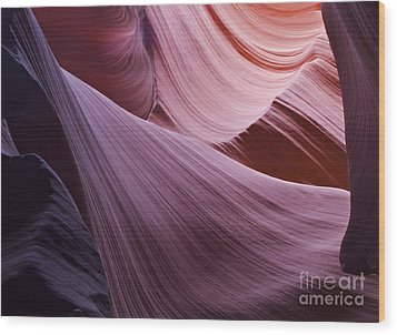 The Veil At Antelope Canyon Wood Print by Alex Cassels