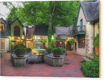 The Village Of Gatlinburg Wood Print by Greg and Chrystal Mimbs