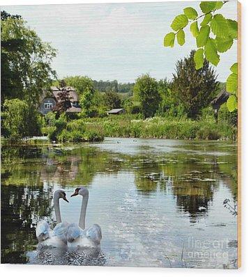 The Village Pond Wood Print by Morag Bates