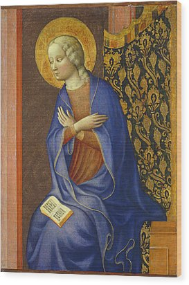 The Virgin Annunciate Wood Print by Tommaso Masolino da Panicale