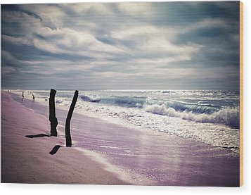 Wood Print featuring the photograph The Voice Of The Sea by Thierry Bouriat