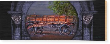 The Wagon Wood Print by Gunter Nezhoda