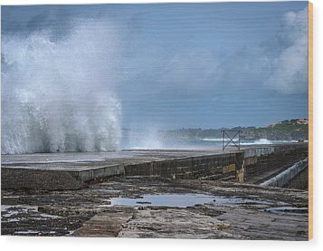 Wood Print featuring the photograph The Wave by Thierry Bouriat