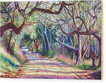 The Way Home Wood Print by Alice Grimsley