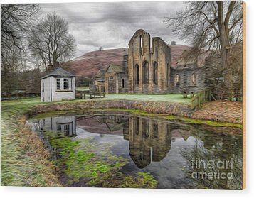 The Welsh Abbey Wood Print by Adrian Evans