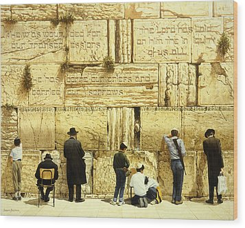 The Western Wall  Jerusalem Wood Print by Graham Braddock