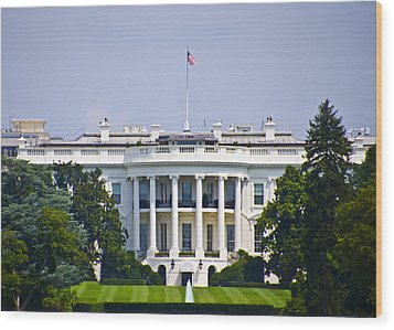 The Whitehouse - Washington Dc Wood Print by Bill Cannon