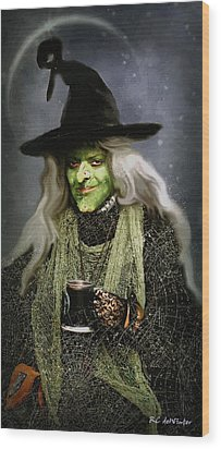 The Witch Of Endor As A Cavalier Wood Print by RC deWinter