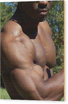 The Wonder Of Biceps Wood Print by Jake Hartz