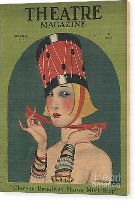 Theatre 1923 1920s Usa Magazines Art Wood Print by The Advertising Archives