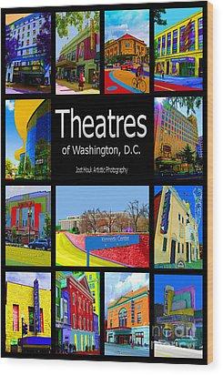Theatres Of Washington Dc Wood Print by Jost Houk