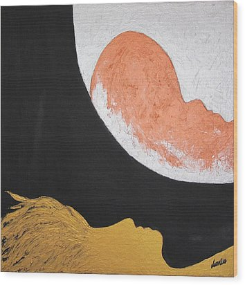..then The Moon Come To Kiss Good Bye... Wood Print by Marianna Mills