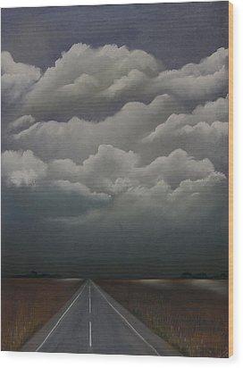 This Menacing Sky Wood Print by Cynthia Lassiter