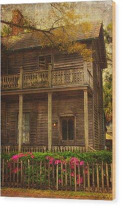 This Old House Wood Print by Kim Hojnacki