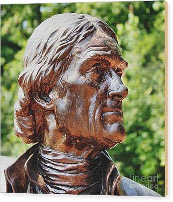 Thomas Jefferson Wood Print by Judy Palkimas