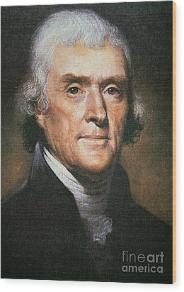 Thomas Jefferson Wood Print by Rembrandt Peale