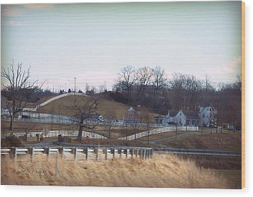 Thoroughbred Thoroughfares Wood Print by Paulette B Wright
