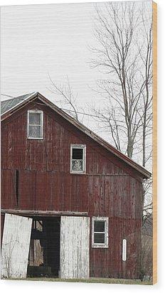 Three Windows Wood Print by Debbie Finley