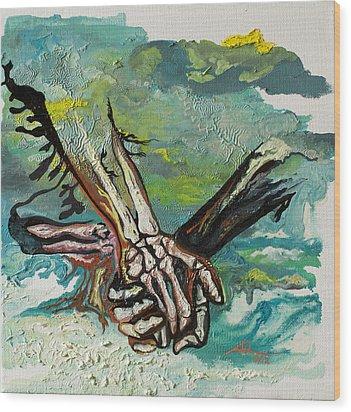 Through Storms Wood Print by Joseph Demaree