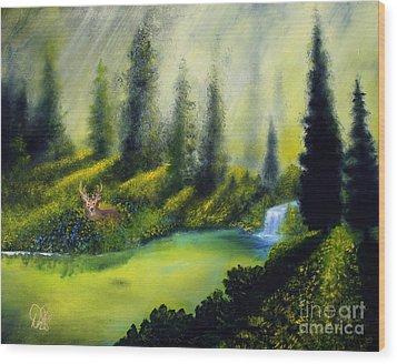 Through The Trees Wood Print by David Kacey