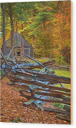 Through Time Wood Print by Joann Vitali