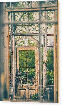 Thru Times Window Wood Print by Karol Livote