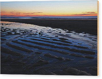 Tidal Ripples At Sunrise Wood Print by James Kirkikis