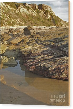 Tide Pools - 01 Wood Print by Gregory Dyer