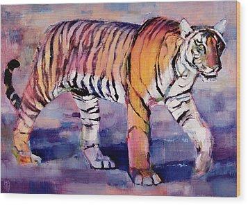 Tigress, Khana, India Wood Print by Mark Adlington
