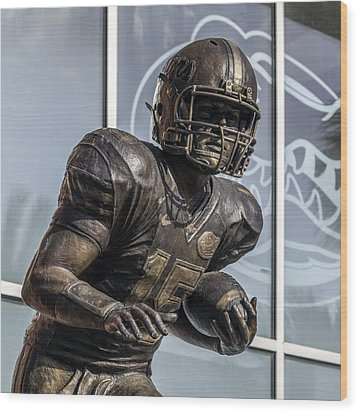 Tim Tebow Uf Heisman Winner Wood Print by Lynn Palmer