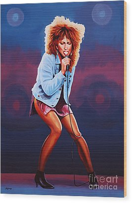 Tina Turner Wood Print by Paul Meijering
