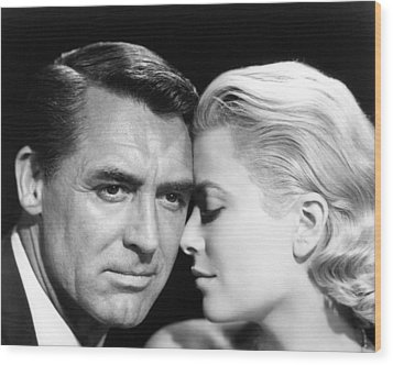 To Catch A Thief Cary Grant And Grace Kelly Wood Print by Silver Screen