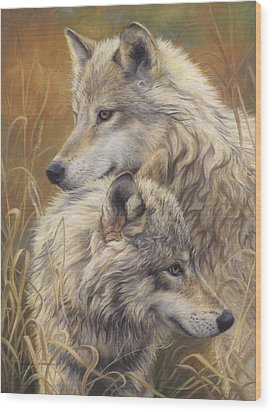 Together Wood Print by Lucie Bilodeau