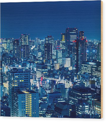 Tokyo 19 Wood Print by Tom Uhlenberg