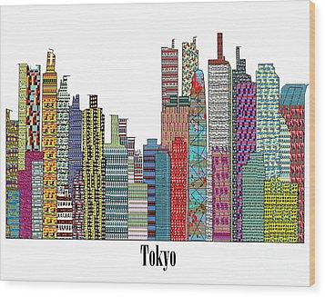 Tokyo City  Wood Print by Bri B