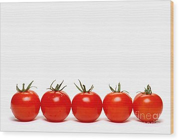 Tomatoes Wood Print by Olivier Le Queinec
