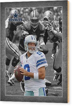 Tony Romo Cowboys Wood Print by Joe Hamilton