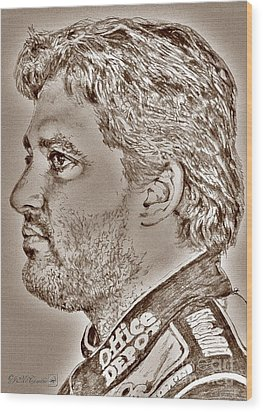 Tony Stewart In 2011 Wood Print by J McCombie