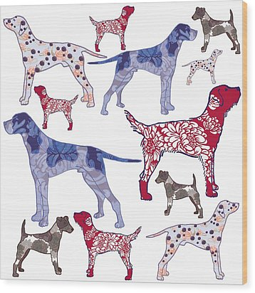 Top Dogs Wood Print by Sarah Hough