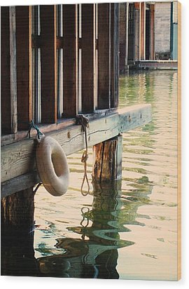 Torch River Bayou Wood Print by Michelle Calkins