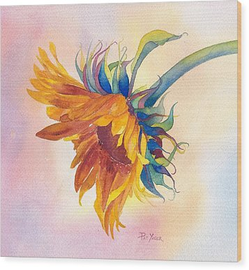 Touch Of Gold Wood Print by Pat Yager