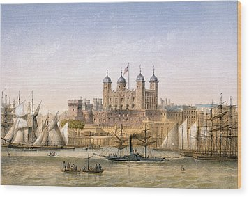 Tower Of London, 1862 Wood Print by Achille-Louis Martinet