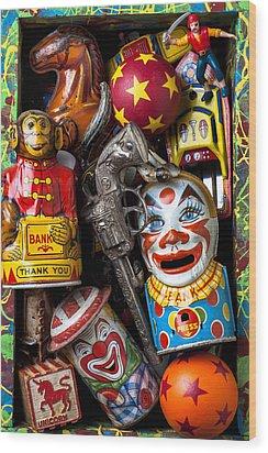 Toy Box Wood Print by Garry Gay