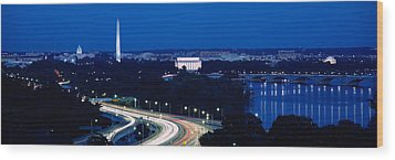Traffic On The Road, Washington Wood Print by Panoramic Images