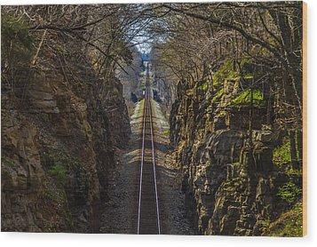 Train Tracks Photo Wood Print by Rick McKee